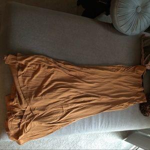 Mustard maxi skirt